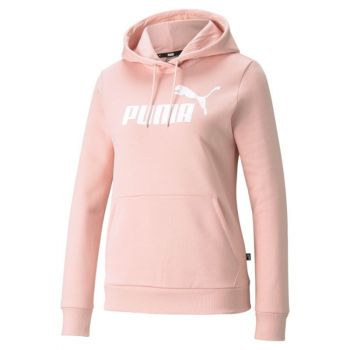 Puma ESS LOGO HOODIE TR (S), pulover ž., roza