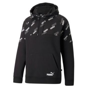 Puma POWER AOP HOODIE FL, moški pulover, črna