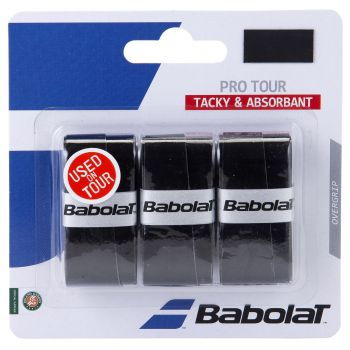 Babolat PRO TOUR X3, tenis grip, črna