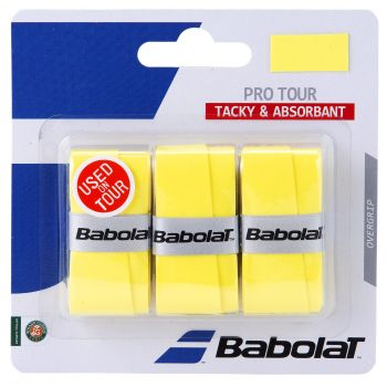 Babolat PRO TOUR X3, tenis grip, rumena