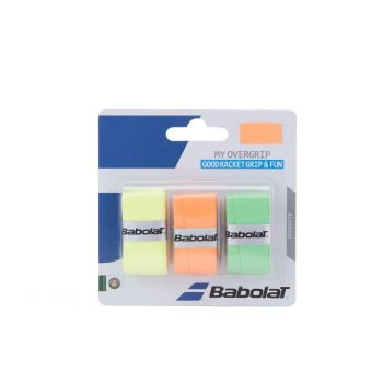 Babolat MY OVERGRIP X3, tenis grip, oranžna
