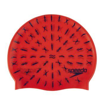 Speedo JUNIOR SLOGAN CAP, otroška plavalna kapa, roza