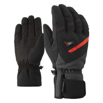 Ziener GARY AS, moške smučarske rokavice, črna
