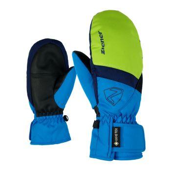 Ziener LEVIN GTX MITTEN, otroške smučarske rokavice, zelena