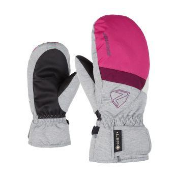 Ziener LEVIN GTX, otroške smučarske rokavice, roza