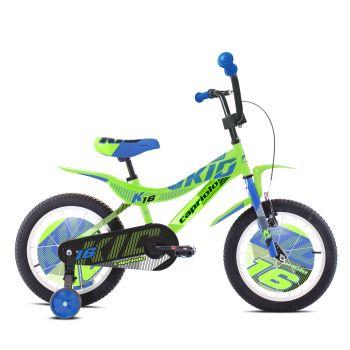 Capriolo KID 16, otroško kolo, zelena