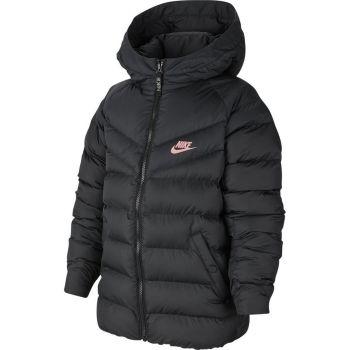 Nike B NSW JACKET FILLED, jakna o.fit, črna