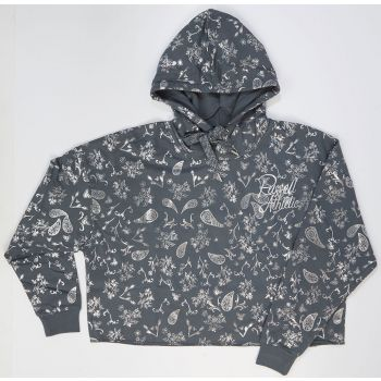 Russell Athletic AOP - SCRIPTED A-LINE HOODY, pulover ž., siva