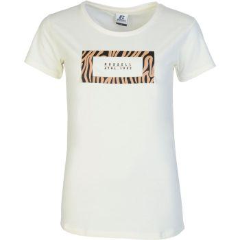 Russell Athletic ANIMAL SQUARE - S/S CREWNECK TEE SHIRT, ženska majica, bela