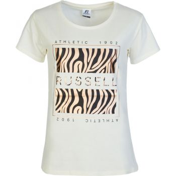 Russell Athletic AOP SQUARE - S/S CREWNECK TEE SHIRT, ženska majica, bela