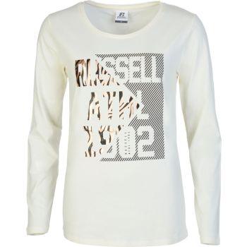 Russell Athletic ANIMAL - L/S CREWNECK TEE SHIRT, ženska majica, bela