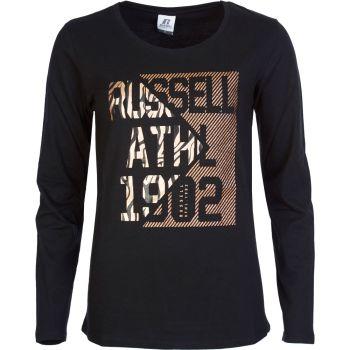 Russell Athletic ANIMAL - L/S CREWNECK TEE SHIRT, ženska majica, črna