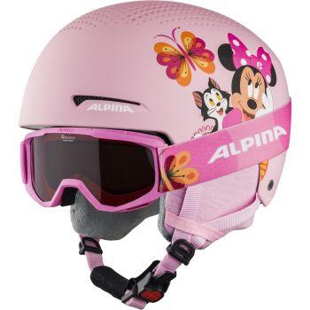 Alpina ZUPO DISNEY SET, otroška smučarska čelada, roza