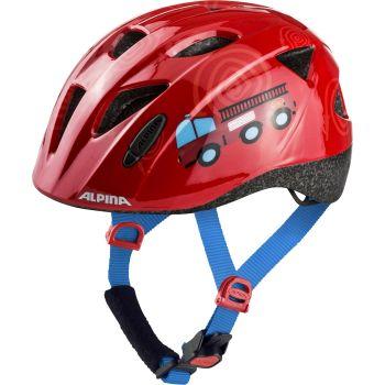 Alpina XIMO, otroška kolesarska čelada, rdeča