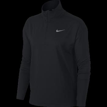 Nike W NK TOP HZ, puli ž.tek zip, črna