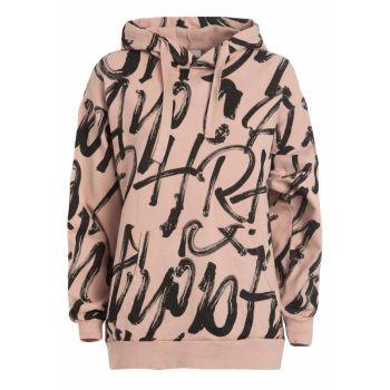 Deha FELPA LUNGA STAMPA ALLOVER, pulover ž., roza