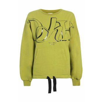 Deha FELPA CON COULISSE AL FONDO, ženski pulover, rumena