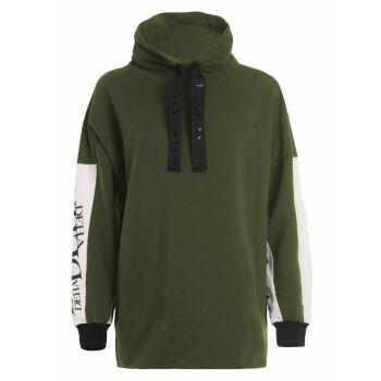 Deha FELPA BICOLORE CON GRAFICHE, pulover ž., zelena
