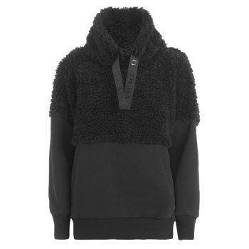 Deha FELPA ORSETTO COLLO ALTRO, ženski pulover, črna