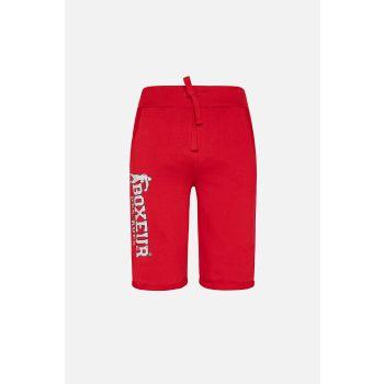Boxeur BASIC SHORT SWEATPANTS, moške hlače, rdeča