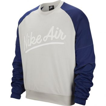 Nike M NSW NIKE AIR CREW MIX SSNL, moški pulover, bela