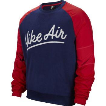 Nike M NSW NIKE AIR CREW MIX SSNL, moški pulover, rdeča