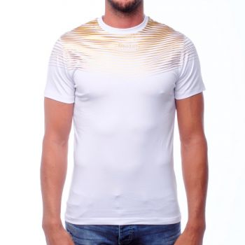 Boxeur T-SHIRT WITH FOIL PRINT ON FRONT, BACK AND SLEEVES, moška majica, bela