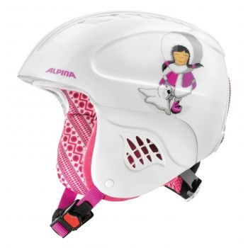 Alpina CARAT, otroška smučarska čelada, bela