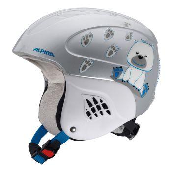 Alpina CARAT, otroška smučarska čelada, srebrna