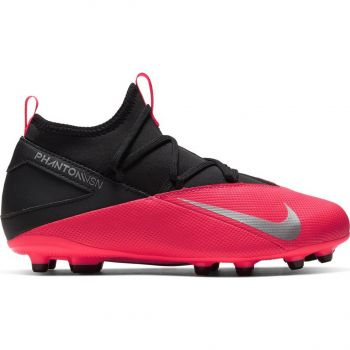 Nike JR PHANTOM VSN 2 CLUB DF FG/MG, otroški nogometni čevlji, rdeča