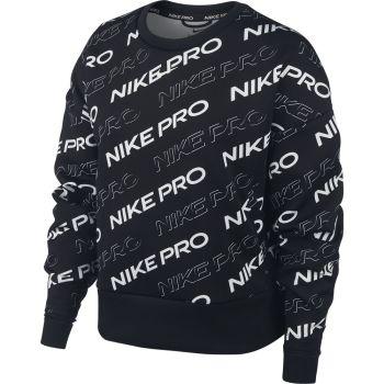 Nike W NP CLN FLEECE CREW PRT, pulover ž.fit, črna