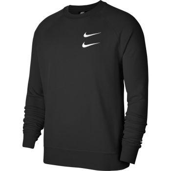 Nike M NSW SWOOSH CRW FT, pulover m., črna