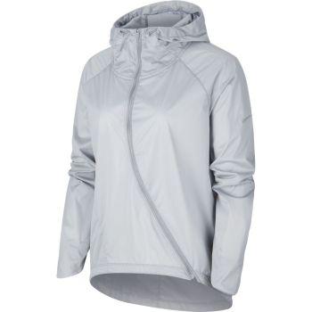 Nike W NK SHLD JKT HD RUNWAY, ženska tekaška jakna, siva