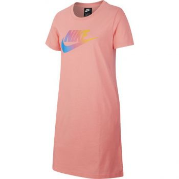 Nike G NSW TSHIRT DRESS FUTURA, maja, roza