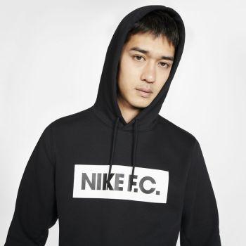 Nike F.C. PULLOVER FLEECE SOCCER HOODIE, pulover m.nog, črna