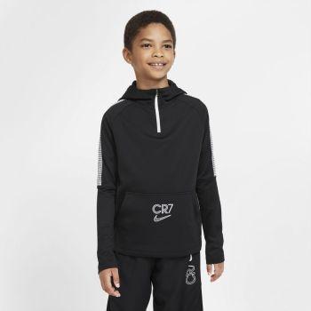 Nike DRI-FIT CR7 BIG KIDS' 1/4-ZIP, puli o.nog zip, črna