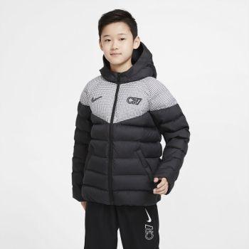 Nike CR7 BIG KIDS' PADDED SOCCER JACKET, jakna o.nog, črna