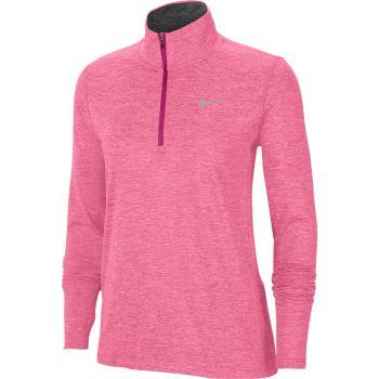 Nike ELEMENT WO 1/2-ZIP RUNNING TOP, puli ž.tek zip, roza