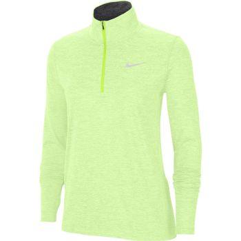 Nike ELEMENT WO 1/2-ZIP RUNNING TOP, puli ž.tek zip, zelena