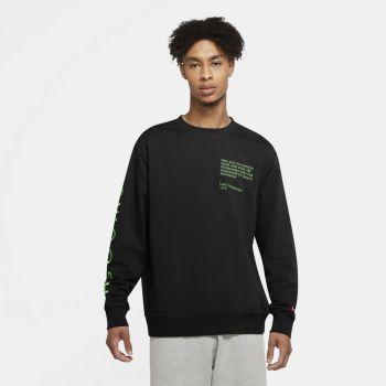 Nike M NSW SWOOSH CREW SBB, moški pulover, črna
