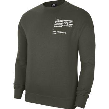 Nike M NSW SWOOSH CREW SBB, moški pulover, zelena