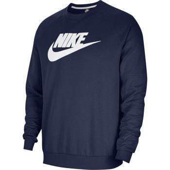 Nike SPORTSWEAR FLEECE CREW, pulover m., modra