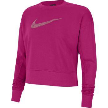 Nike DRI-FIT GET FIT WO SWOOSH TRAINING CREW, maja, roza