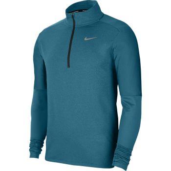Nike DRI-FIT 1/2-ZIP RUNNING TOP, puli m.tek zip, zelena
