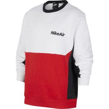 Nike B NSW AIR LS CREW, pulover  o., bela