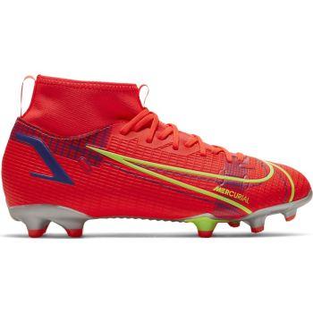 Nike JR SUPERFLY 8 ACADEMY FG/MG, otroški nogometni čevlji, rdeča