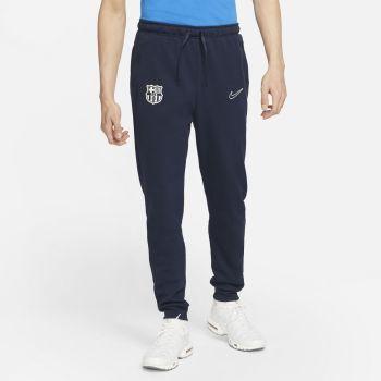 Nike FC BARCELONA DRI-FIT FLEECE SOCCER PANTS, moške hlače, modra
