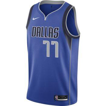 Nike LUKA DONCIC MAVERICKS ICON EDITION 2020 NBA SWINGMAN JERSEY, maja m.br koš nv, modra