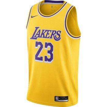 Nike LEBRON JAMES LAKERS ICON EDITION 2020 NBA SWINGMAN JERSEY, maja m.br koš nv, rumena