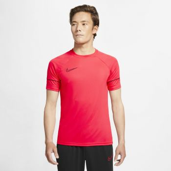 Nike DRI-FIT ACADEMY SHORT-SLEEVE SOCCER TOP, maja m.kr nog, rdeča
